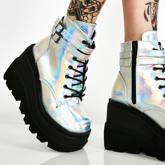 5247bd855bd Demonia Shoes - NEW Demonia x Dollskill Technopagan Boots